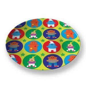 la Magie dans l'Image - assiette héros pattern vert - Assiette De Présentation