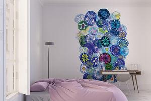 la Magie dans l'Image - grande fresque murale jardin bleu - Papier Peint Panoramique