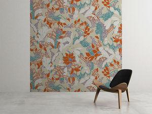 la Magie dans l'Image - grande fresque murale tropical flowers nude - Papier Peint Panoramique