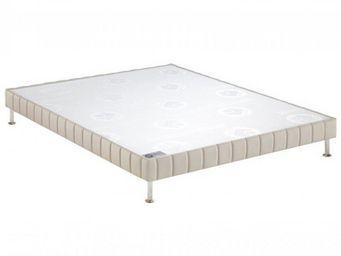 Bultex - bultex sommier tapissier confort ferme pierre 160 - Sommier Fixe À Ressorts