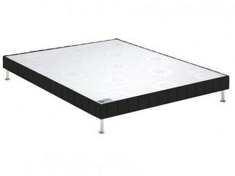 Bultex - bultex sommier tapissier confort ferme noir 70*19 - Sommier Fixe À Ressorts