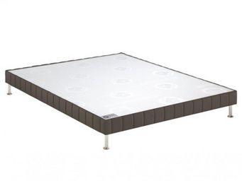 Bultex - bultex sommier tapissier confort médium 3 zones e - Sommier Fixe À Ressorts