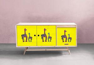 la Magie dans l'Image - adhésif lama jaunes - Sticker