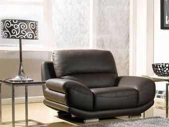 LA MAISON DU CANAPE - fauteuil en cuir barcelona - Fauteuil