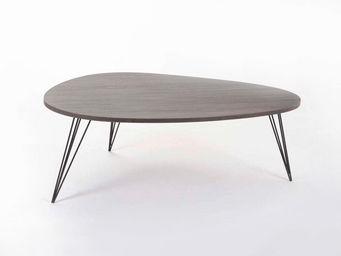 Amadeus - table basse scandinave haricot - wengué - Table Basse Forme Originale