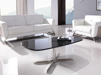 WHITE LABEL - table basse link - noir - Table Basse Forme Originale