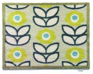 HUG RUG - tapis en fibres naturelles motifs fleurs 65x85 cm - Paillasson