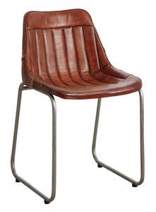 Aubry-Gaspard - chaise en cuir et métal - Chaise