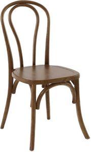 INWOOD - chaise bistrot en bois d'orme (lot de 2) modèle 2 - Chaise