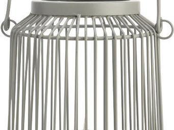 Amadeus - lanterne ajourée grise - Photophore