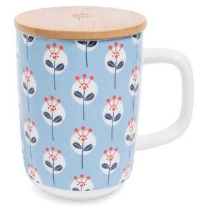 Maisons du monde - mug en faïence bleue capr - Mug