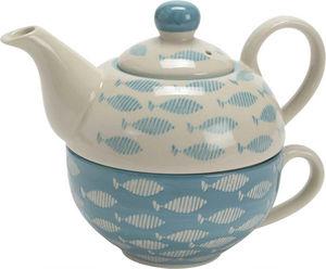 Amadeus - théière et tasse tea for one oceano - Théière