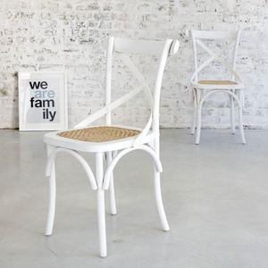 BOIS DESSUS BOIS DESSOUS - lot de 2 chaises bistrot en bois d'acajou et roti - Chaise