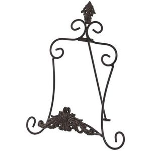 CHEMIN DE CAMPAGNE - lutrin porte livre porte assiette en fer 33.50 cm - Lutrin