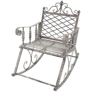 CHEMIN DE CAMPAGNE - fauteuil banc rocking chair en fer de jardin 100 c - Rocking Chair