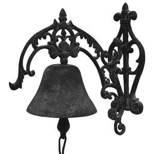 CHEMIN DE CAMPAGNE - grande cloche de porte murale de jardin en fonte g - Cloche D'extérieur