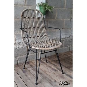 Mathi Design - chaise design kubu accoudoirs - Chaise
