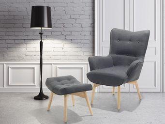 BELIANI - fauteuil - Fauteuil Et Pouf