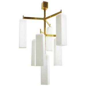 ALAN MIZRAHI LIGHTING - dv5514 murano frosted - Lustre Murano