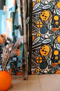 LALIE DESIGN - tomiko orange - Tissu Au Mètre