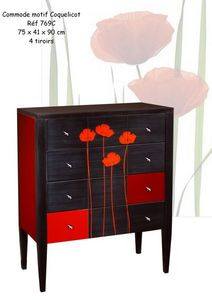 BATEL - motif coquelicot - Commode