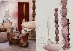 Fabienne Jouvin - paris atelier brancusi . 2008 - Carnet De Dessin