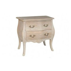 DECO PRIVE - commode en bois ceruse modele bombay 2 tiroirs dec - Commodine