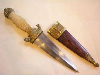 Aux Armes d'Antan - superbe poignard du début du xixème siècle - Poignard