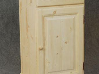 BARCLER - confiturier en bois brut 1 tiroir 1 porte 45x83x40 - Meuble Confiturier