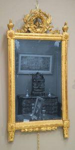 Galerie Schmit - miroir à fronton - Miroir