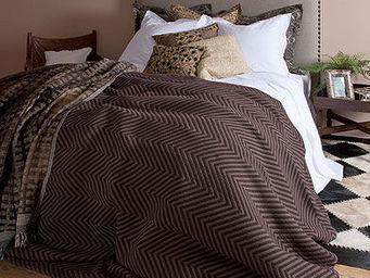Zara Home - couvre-lit et housse de coussin chevron - Couvre Lit