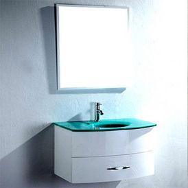 Vasque Salle De Bain Verre Trempe : Meuble vasque en verre