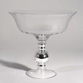 Coupe pied argent coupe d corative maisons du monde - Grand verre a pied centre de table ...