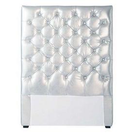 t te de lit argent chesterfield t te de lit maisons du monde. Black Bedroom Furniture Sets. Home Design Ideas