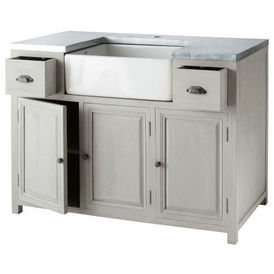 Zinc meuble de cuisine maisons du monde decofinder - Cuisines maison du monde ...