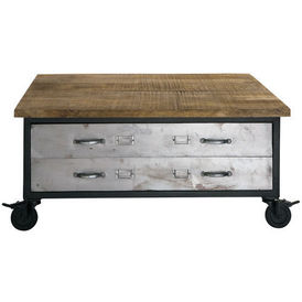 Table basse franklin table basse roulettes maisons - Table a roulettes ...