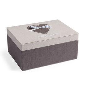 Bo te bijoux coeur gris ruban coffret bijoux - Maison du monde boite a bijoux ...