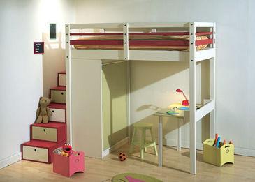 sa premi re mezzanine pour elle lit mezzanine enfant espace. Black Bedroom Furniture Sets. Home Design Ideas
