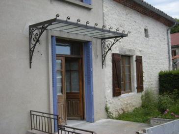 croch marquise auvent fer forg la forge de la maison dieu. Black Bedroom Furniture Sets. Home Design Ideas