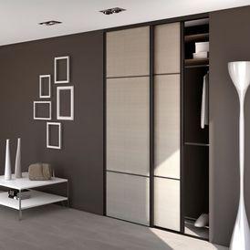 motion placard coulissant bois sogal decofinder. Black Bedroom Furniture Sets. Home Design Ideas
