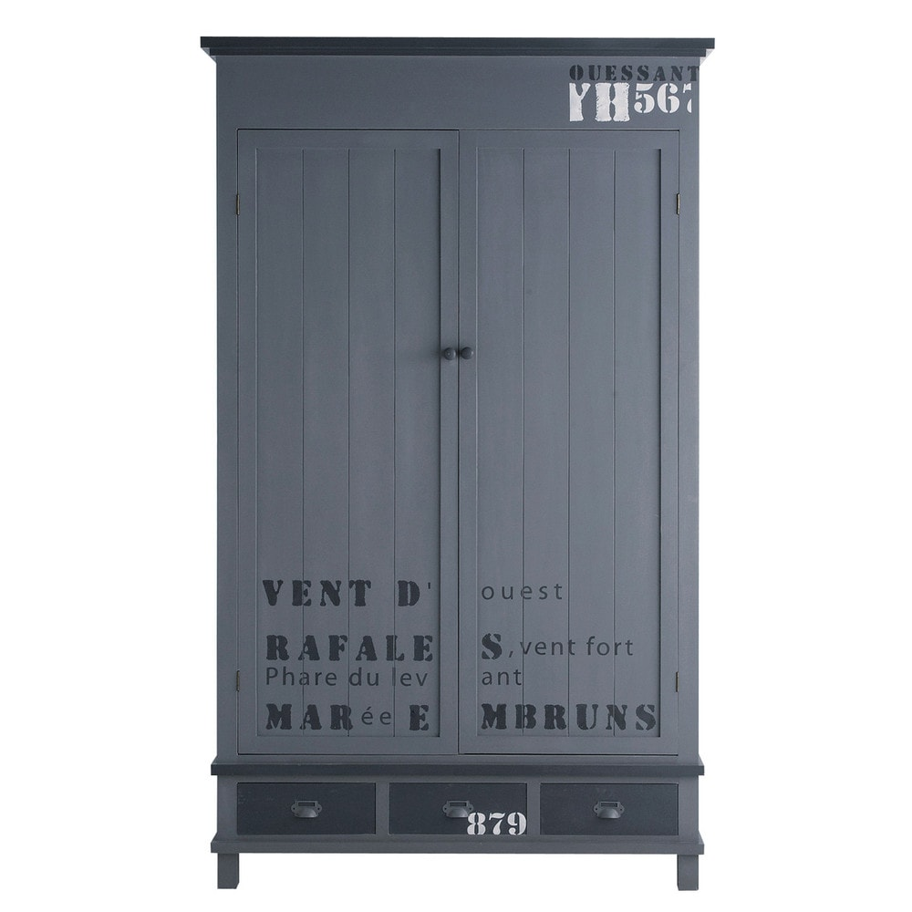 cargo armoire portes battantes maisons du monde. Black Bedroom Furniture Sets. Home Design Ideas