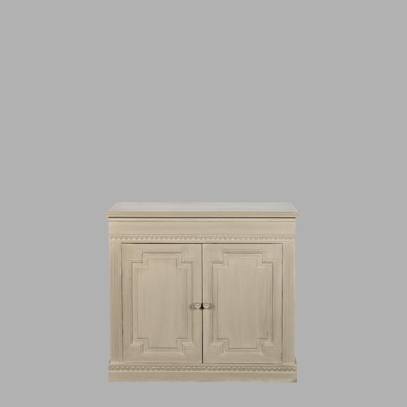 Adrien pm gr ge buffet haut blanc d 39 ivoire decofinder for Meuble blanc d ivoire