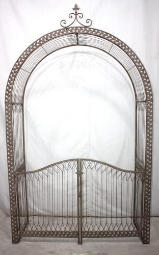 Arche et portail de jardin en fer forg portail de jardin demeure et jardin - Portail de jardin ...