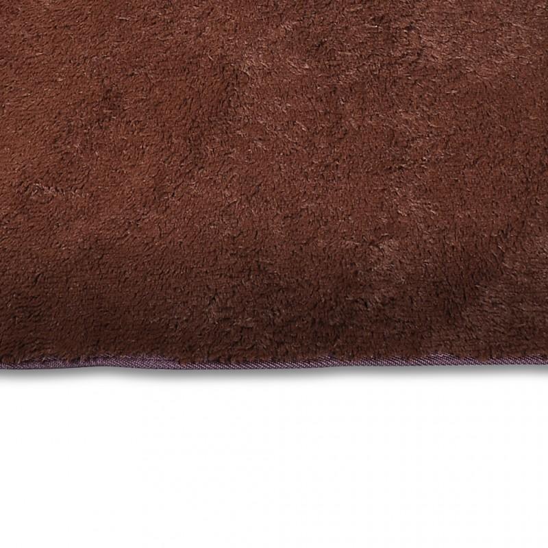 Tapis salon marron poil long taille s tapis contemporain white label - Tapis salon poil long ...