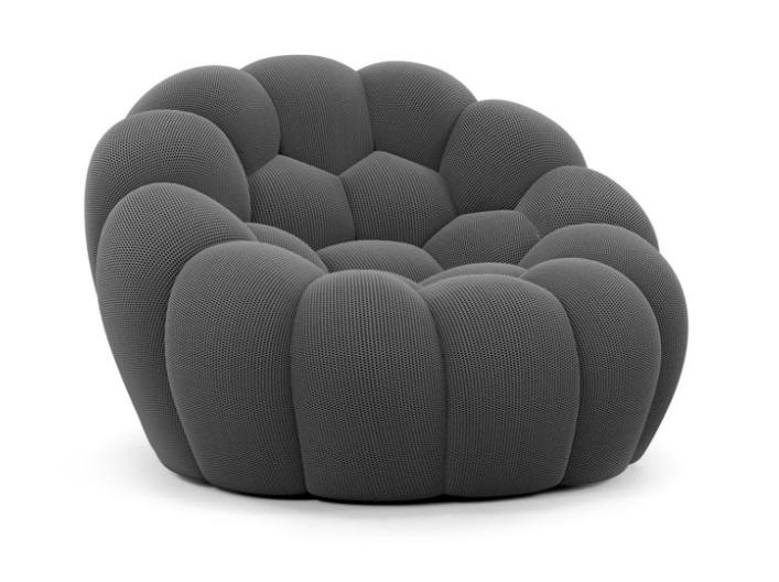 bubble fauteuil gris roche bobois decofinder. Black Bedroom Furniture Sets. Home Design Ideas