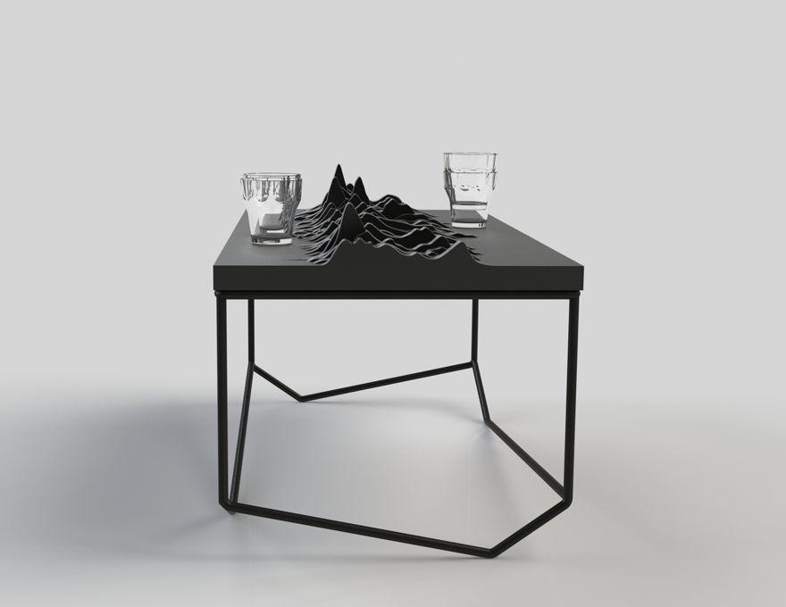 table echo table basse forme originale malherbe edition. Black Bedroom Furniture Sets. Home Design Ideas