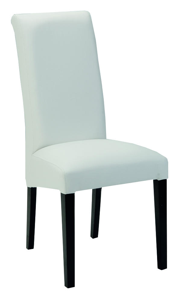 table manger blanche et grise 190 cm 4 chaises salle. Black Bedroom Furniture Sets. Home Design Ideas