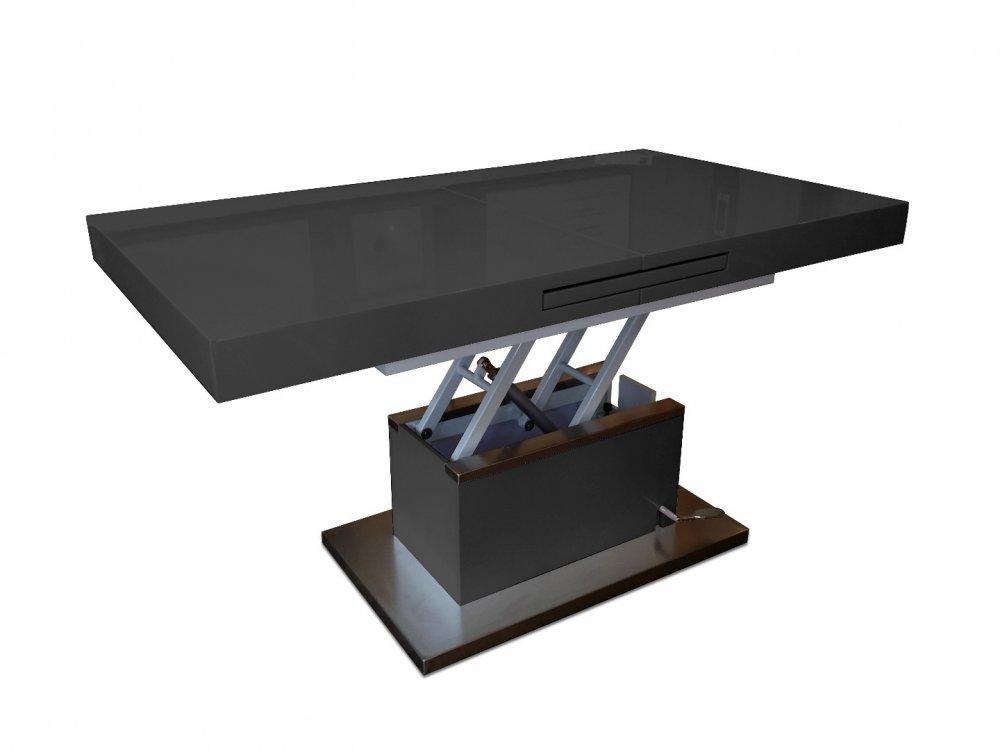 table basse relevable extensible setup noir brilla table. Black Bedroom Furniture Sets. Home Design Ideas