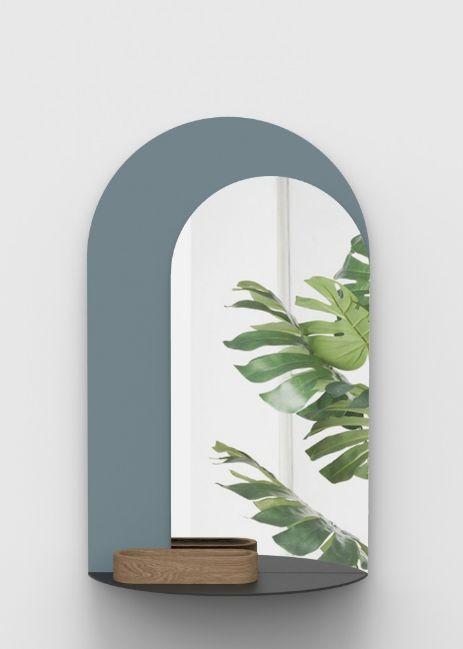 Trompe l 39 oeil miroir bleu bois alain gilles - Miroir trompe l oeil ...
