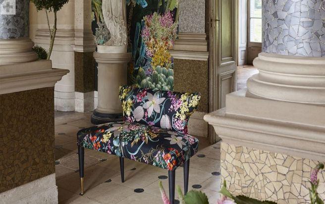 tissu d 39 ameublement pour si ge multicolore floral christian. Black Bedroom Furniture Sets. Home Design Ideas